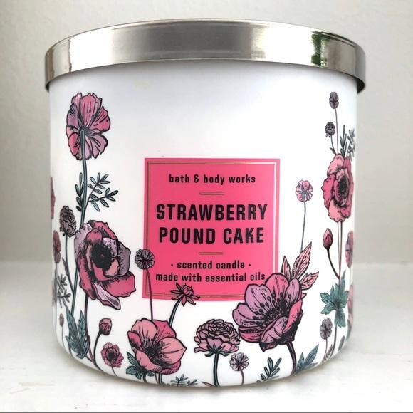 Bath & Body Works Other - BBW Strawberry Pound Cake 3 wick candle